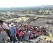 Ansturm auf die Sonnenpyramide, Teotichuacan