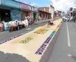 Vorbereitung Blumentteppiche in Coban