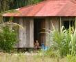 Hütten in San Juan des Norte