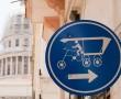 Straßenschild für Rikscha Fahrer