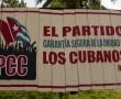Parteiwerbung der PCC (Kommunistische Partei Kubas)