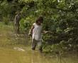 Siona Mädchen auf Fischfang