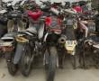 Beschlagnahmte Zweiräder, Polizeistation Macara, Ecuador