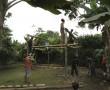 Bauen einer Zeremonie Hütte